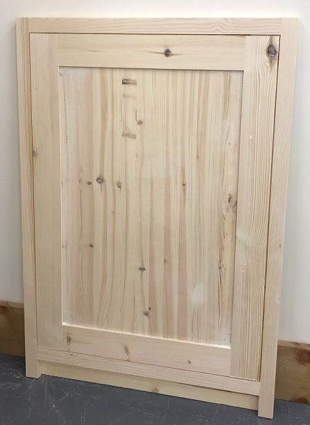 Pine Traditional Style Kitchen Integrated Appliance Door 450mm wide