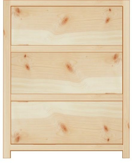 Rustic Farmhouse 500mm Base Cabinet With 3 Drawers